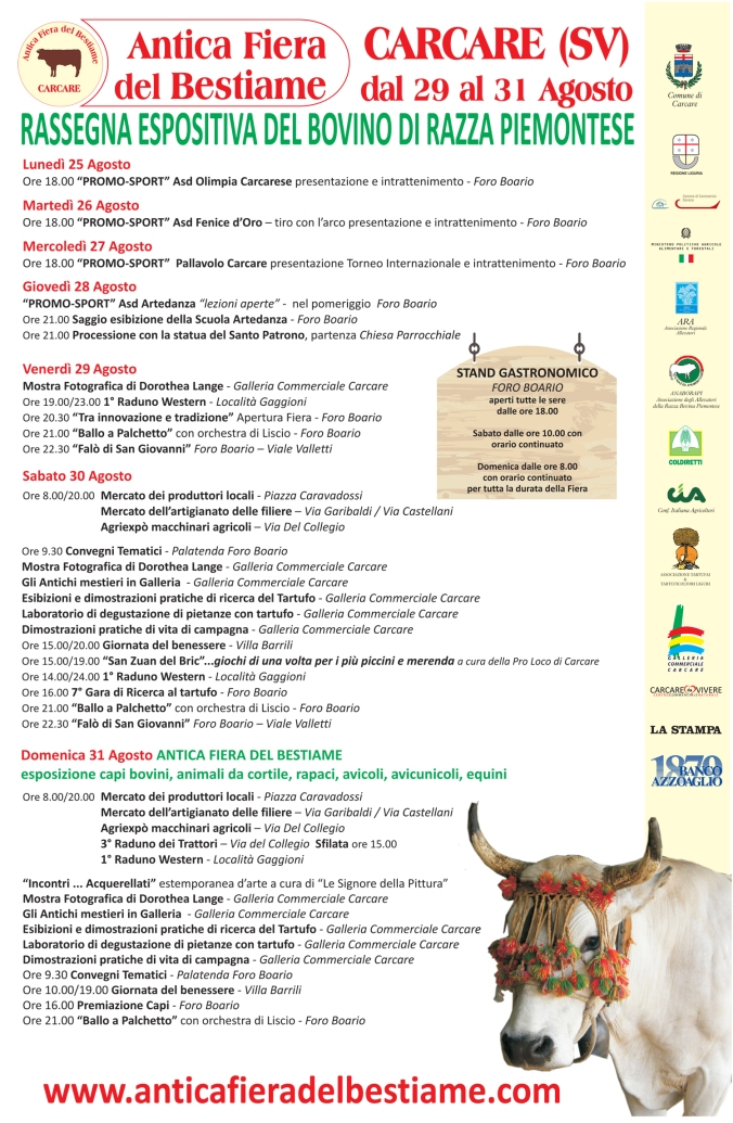 Programma Antica Fiera del Bestiame 2014